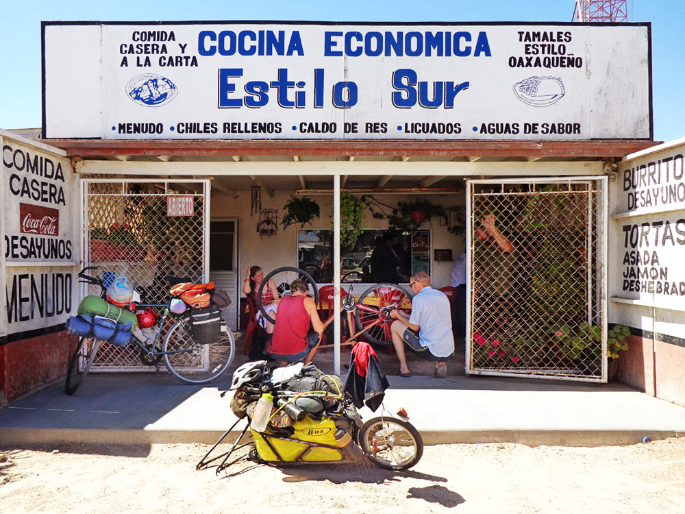 Fixing Bikes in Baja